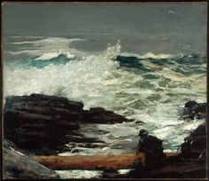 Impressionism oil painting, Driftwood, 1909 By Homer, Winslow Seascape Paintings, Landscape Paintings, Landscapes, Oil Paintings, Arte Naturalista, Winslow Homer Paintings, Book Art, Kunsthistorisches Museum, Museum Of Fine Arts