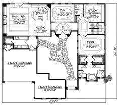 Cervantes Santa Fe Style Home Plan 051D-0350   House Plans and More