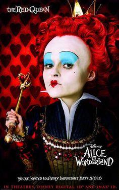Detalle de imagen de:The Red Queen (Helena Bonham Carter) – Alice in Wonderland