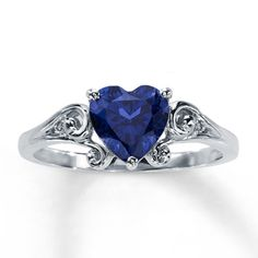 Yes, it's a repeat, but it is my favorite ring. 10K White Gold Diamond & Lab-Created Sapphire Ring
