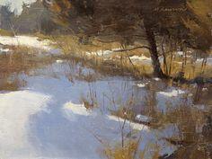 3/11/12 'May Avenue Cedar' by Marc Hanson  ~ 6 x 8