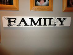 Hand Painted Wood Family Sign by KLKDesignsLLC on Etsy, $35.00