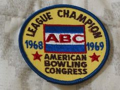 A Junkee Shoppe Junk Market Stop: ABC BOWLING PATCH League Champion 1968 1969 Season ... For Sale Click Link Here To View >>>> http://ajunkeeshoppe.blogspot.com/2016/01/abc-bowling-patch-league-champion-1968.html