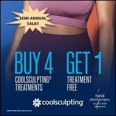 It's our semi-annual CoolSculpting Sale!! Take advantage of the Buy 4 treatments; Get 1 treatment free special. AND you can combine this with Double Alle points!! Don't wait!! There's no better time than now. So, call and schedule your fat-freezing cycles 312.757.4505 coolsculpting #freezefat #bodycontouring #chicagoplasticsurgery #nonsurgical #noninvasive Plastic Surgery Procedures, Semi Annual Sale, Cool Sculpting, Got 1, Body Contouring, Schedule, Fat, Timeline