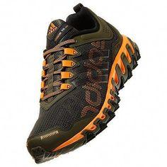 detailed look bae74 718a0 New Adidas Mens Vigor 4 Trail Running Shoes Outdoor TR Earth Green Orange  Black   eBay