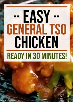 Searching for an easy takeout recipe you can make at home? Try this Easy General Tso Chicken – you'll never want to eat out again! What's your favorite Chinese Takeout meal? General Tso Shrimp, General Tao Chicken, General Tso Sauce, Meat Appetizers, Appetizers For Party, Appetizer Recipes, Easter Recipes, Italian Appetizers, Recipes Dinner