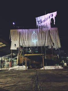 Foto de Vitor Iemini. Nosferatu na kombi palco da Academia de Palhaços!