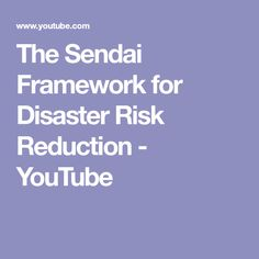 The Sendai Framework for Disaster Risk Reduction Sendai, Architecture, Health, Youtube, Arquitetura, Health Care, Salud, Youtubers, Youtube Movies
