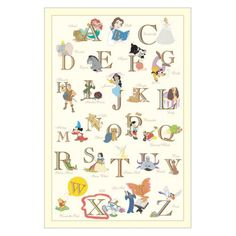Disney Princess Alphabet Wall Art