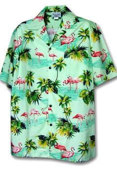 Pacific Legend Flamingos Hawaiian Shirt, Sage XL: cotton poplin fabric Matched pocket Coconut buttons Made in Hawaii Plus Size Maxi Dresses, Short Sleeve Dresses, Very Short Dress, Mens Hawaiian Shirts, Cosplay Dress, Cap Dress, Pretty Dresses, Casual Button Down Shirts, Vintage Ladies