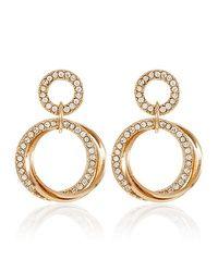 Goldtone Circles Link Drop Earring