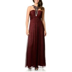 @Overstock.com - Cachet Women's Glitter Knit Novelty Gown - Look fabulous in this Cachet women's sleeveless Grecian glamour gown with an embellished teardrop halter and a pleated bust complemented by a keyhole design and two bra cups. A back zipper closes this fully lined, glitter-knit A-line gown.  http://www.overstock.com/Clothing-Shoes/Cachet-Womens-Glitter-Knit-Novelty-Gown/8819143/product.html?CID=214117 $98.99