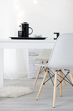 Via My White Obsession | White | Ikea | Eames DSW Chairs www.redreidinghood.com