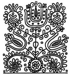 Hungarian Embroidery Stitch embroidery Hungarian Embroidery, Folk Embroidery, Cross Stitch Embroidery, Embroidery Patterns, Chain Stitch, Needle And Thread, Needlepoint, Sewing, Doodle Ideas