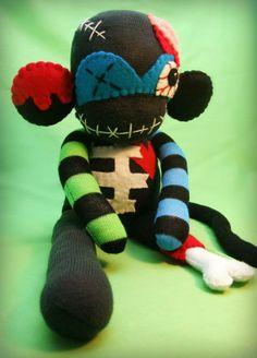 zombie sock monkey