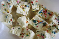 scrumdillydilly: recipe: cake batter fudge