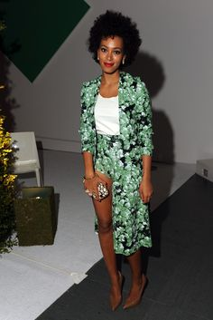 Solange Knowles in Flaminia Saccuci at MoMA's Garden Party