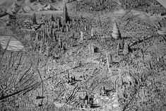 Jaw-Dropping Pen and Ink Cityscapes That Seem to Sprawl into Infinity by Ben Sack