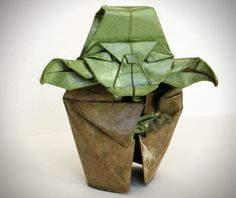 Yoda Origami Sculpture by Catamation