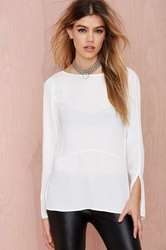 Nasty Gal Let's Drop It Plunging Blouse | Shop Tops at Nasty Gal