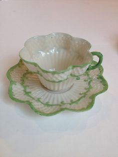 Belleek Cup and Saucer | eBay