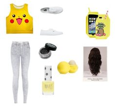 """Amarelo"" by maria-lnzlh on Polyvore featuring Skinnydip, Vans, WigYouUp, Eos and Topshop"