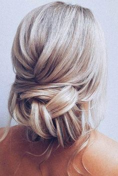 Bridal Hairstyles For Perfect Big Day Party ★ bridal hairstyles messy low bun on blonde hair with loose curls hairbyhannahtaylor