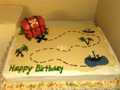 Treasure Map cake Birthday Stuff, 5th Birthday, Birthday Parties, Treasure Map Cake, Peter Pan Cakes, Pirate Cakes, Pirate Party, Christmas Cookies, Cake Ideas