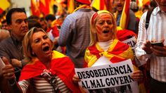 Hundreds of people are gathering in downtown Barcelona ahead of a rally to protest the Catalan government's push for secession from the rest of Spain.  Many in the crowd forming in a central square are carrying Spanish and Catalan flags.  Sunday's rally comes a week after... - #Ahead, #Barcelona, #Gather, #Hundreds, #ProSpain, #Rally, #TopStories