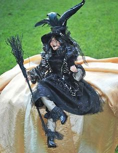 Halloween Cute Black Witch Doll