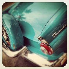 Thunderbird Classic Car Ocean Drive South Beach Miami Florida