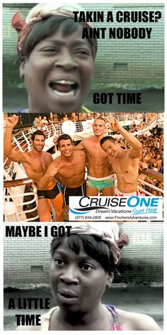 """Sweet Brown says """"go on a cruise""""!"""
