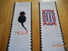 cross stitch bookmarks Halloween available in etsy shop DebbyWebbysCards