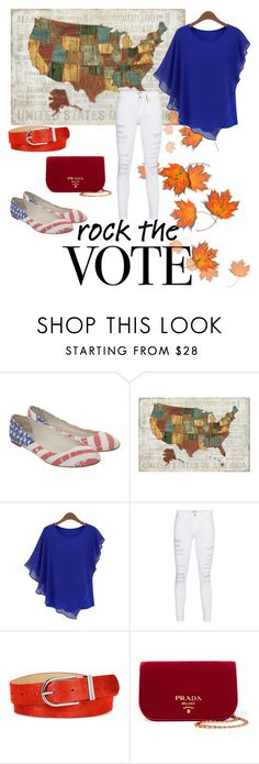 """Get out and vote!"" by shopgirlsf ❤ liked on Polyvore featuring Giuseppe Zanotti, Frame Denim, Style & Co. and Prada"
