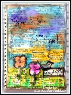 Art Journal Page using Unity Stamps, Gelatos & Distress Paints