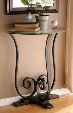 creative design ideas of modern luxury table in your home 15 Decor, Wrought Iron Furniture, Small Console Tables, Wrought Iron Decor, Luxury Table, Home Deco, Half Round Table, Iron Decor, Metal Furniture