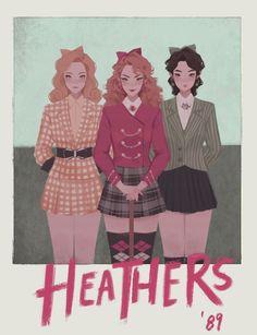 Heathers, an art print by Pauline Heathers Fan Art, Heathers The Musical, Musical Hamilton, Super Nana, Punziella, Heather Chandler, Fantasias Halloween, Fanart, Theatre Nerds