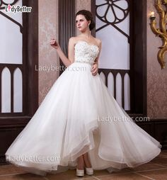 Strapless Sweetheart Floral Beaded Luxury Ball Gown Wedding Dress