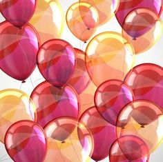Transparent colored balloons vector background 01