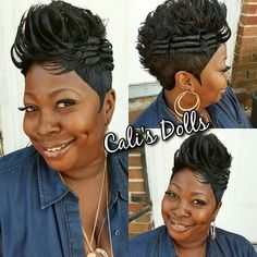 Women's Black Hairstyles: Fabulous Styles – Stylish Hairstyles Short Hair Dos, Short Sassy Hair, Short Curls, Short Pixie, Pixie Cuts, Short Black Haircuts, Short Haircut Styles, Short Styles, Hot Hair Styles