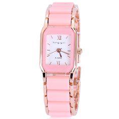 Free shipping luxury brand rose gold plated ceramic ladies women dress watches 5 colors quartz fashion wristwatches -ZZKKO