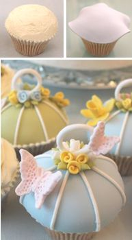 How to make #vintage #birdcage #cupcakes (Cake Journal).  These are cute for tea parties or baby showers.