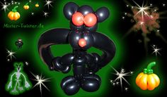 129  Balloon Halloween bat animal, Ballon Fledermaus Tier, Modellierballon Ballonfiguren