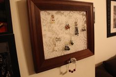 antique lace wooden frame jewlery hanger