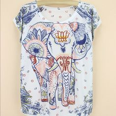 "Indian Elephant Tee NWOT. Love unconditionally and wear it like you mean it. Baby soft and light weight. Bust: 18"" Length 23"". Manual measurements, please allow for some variation. Fit runs small. ❌Price is FIRM ❌ Unbranded Tops Tees - Short Sleeve"