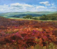 This one is from my Exmoor series, this time on stretched canvas. I am always fascinated by the colours, textures and light of this place, by it's rough beauty. Oil On Canvas, Canvas Art, Original Art, Original Paintings, Impressionism Art, Landscape Paintings, Art Boards, Buy Art, Paint Colors