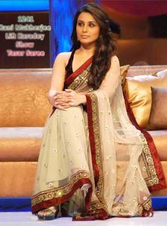 Rani Mukerji Net Cream Saree 20370