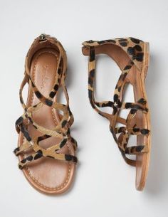 strappy sandals + animal print = perfection! These would be more practical.
