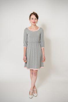 """Knielange Kleider - Kleid """"Mélange"""" - Jerseykleid - ein Designerstück von Ave-evA bei DaWanda"""