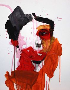 "Saatchi Art Artist Lou Ros; Painting, ""selfportrait 11 ( SOLD )"" #art"